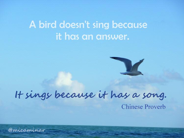 inspirational saying like a bird