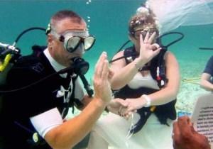 Boda submarina cancun