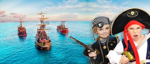 Capitán Hook actividades y tour para niños cancun y riviera maya