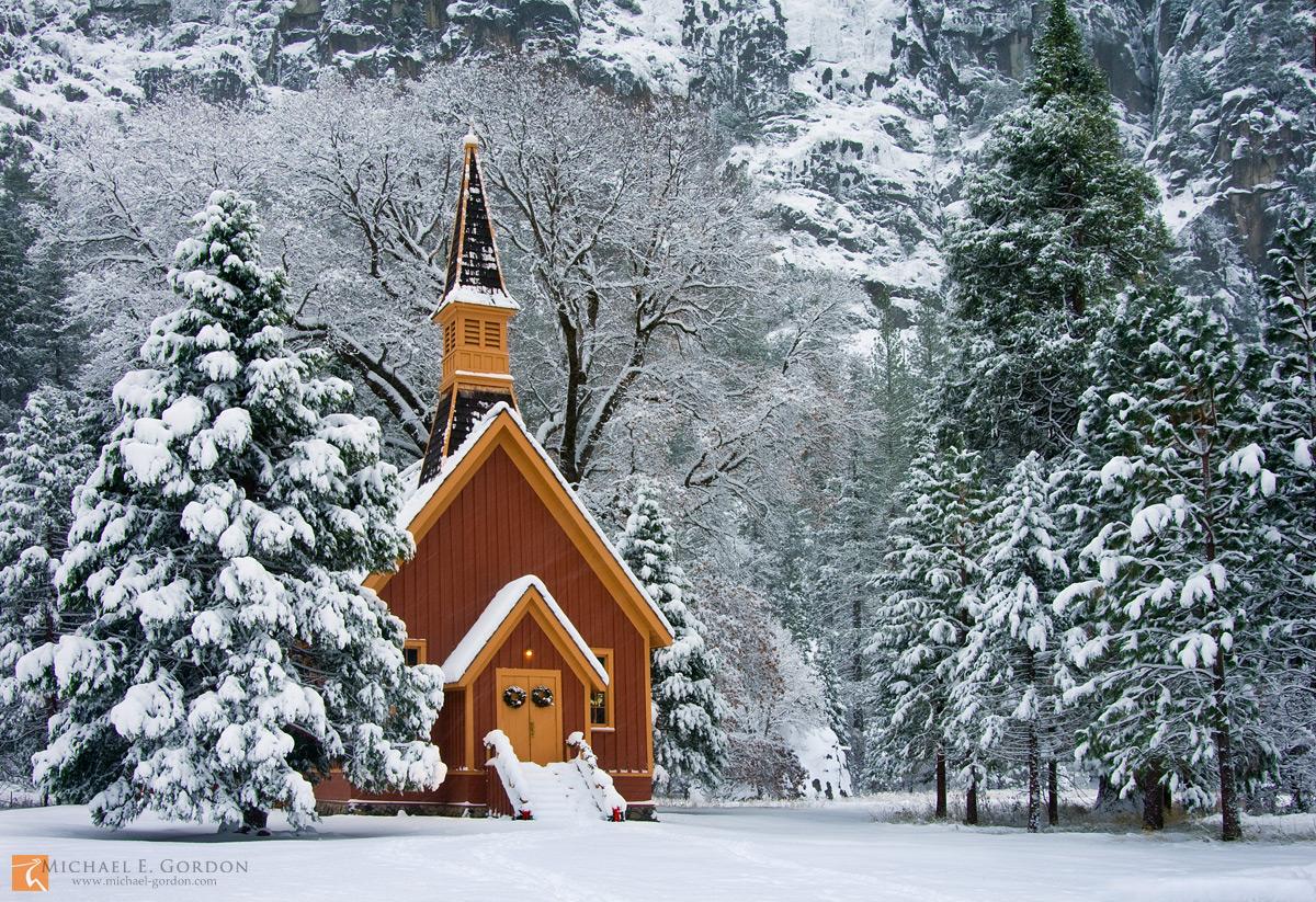Yosemite Chapel Yosemite Valley California Michael E