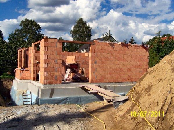 Einige Innenwände müssen noch fertiggestellt werden