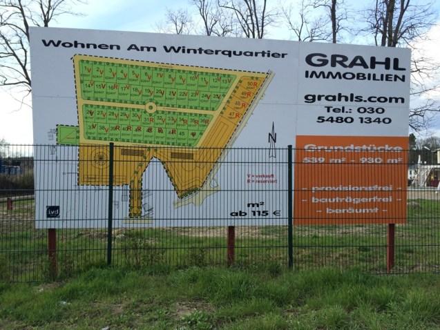 Bauschild Bauvorhaben Hoppegarten