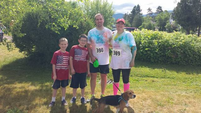 Family Photo at Franconia 5K Color Run