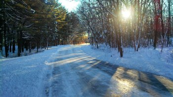 Lincoln Woods, Lincoln Rhode Island is a great spot for winter running