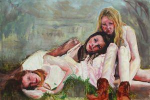 Three echoes of you, Öl auf Leinwand, 100 x 150 cm, 2017