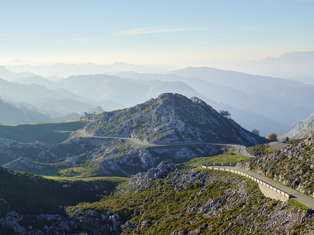 Lagos de Covadonga climb, Asturias Mountains, Spain