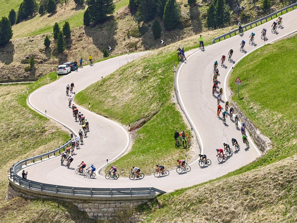 Passo Gardena, Giro D'Italia