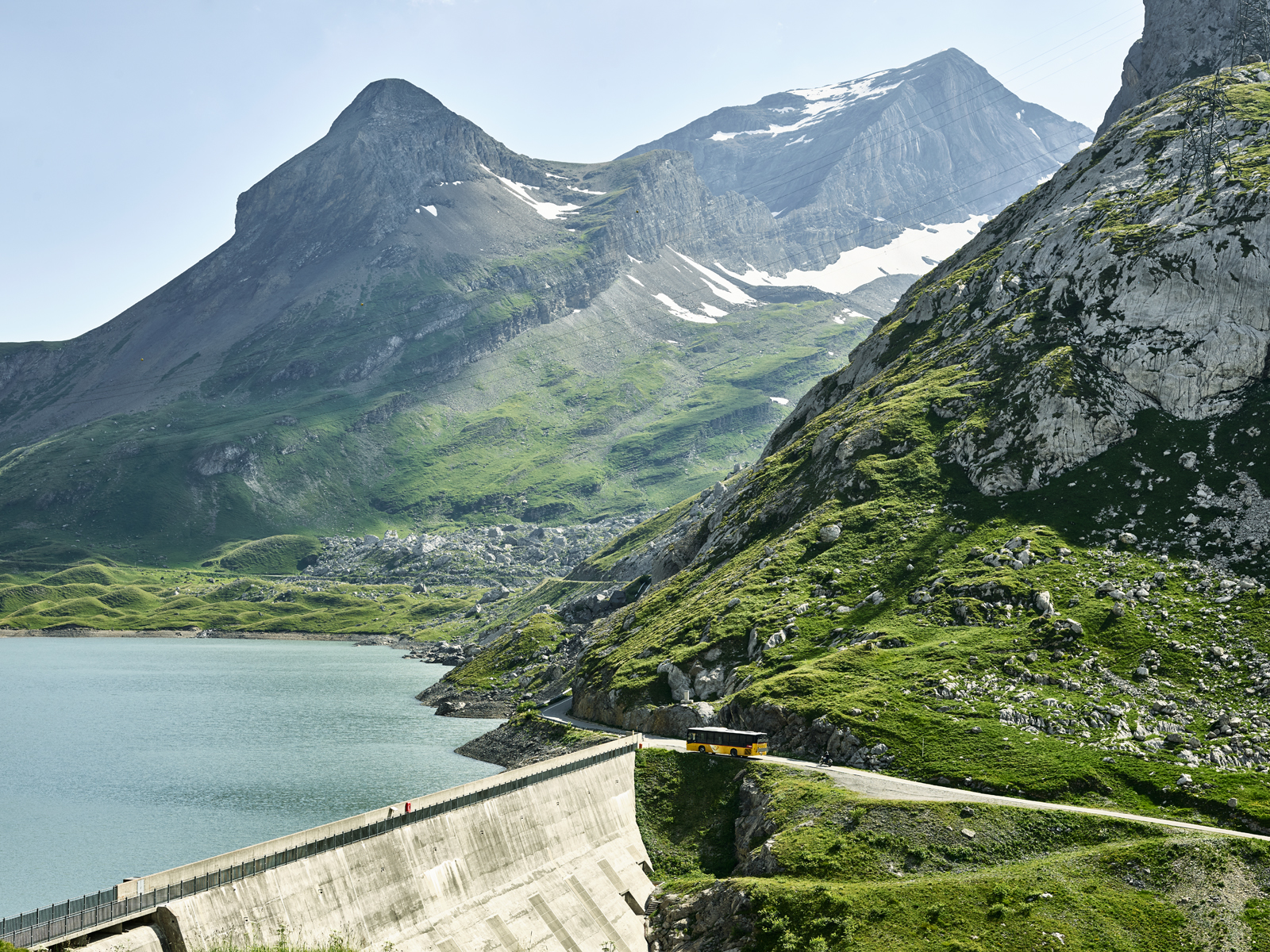Dam at the top of the Col du Santesch, Switzerland, Swiss Alps, Mountain pass, cycling, landscape photography