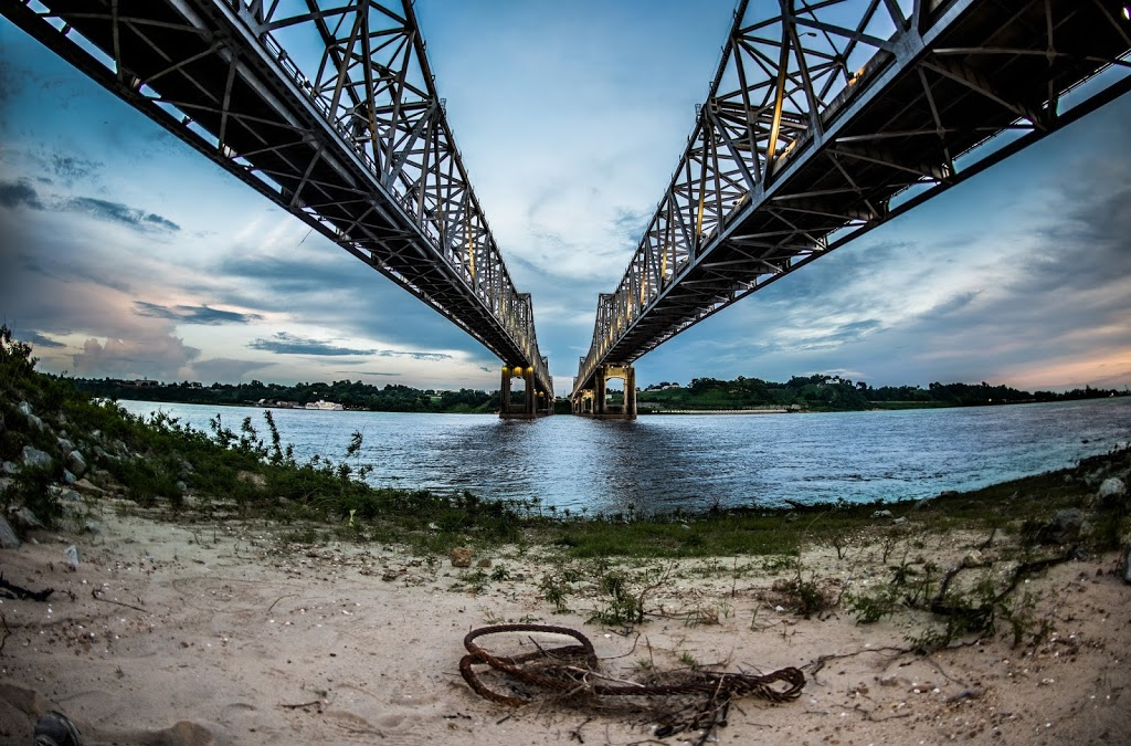 Landscape Photography of Natchez Bridge