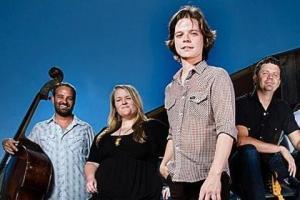 Bassist Nate Rowe (left), Emily Gimble, Warren Hood, Willie Pipkin.
