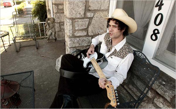 Devil Dan in Tulsa, 2008. Photo from New York Times.