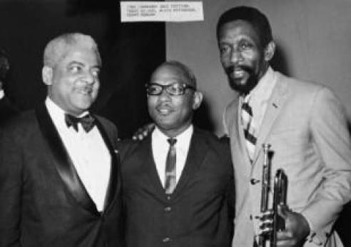 L-R Teddy Wilson, Alvin Patterson, Kenny Dorham at the 1966 Longhorn Jazz Fest.