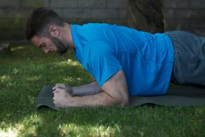 Arms back plank exercise