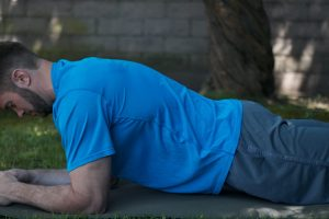 Lower back dip plank exercise