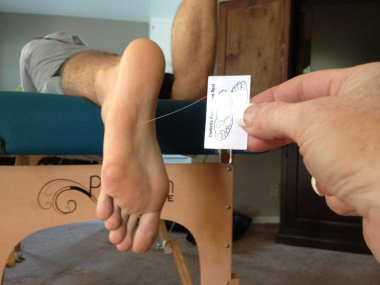 Tactile acuity testing for plantar fasciitis