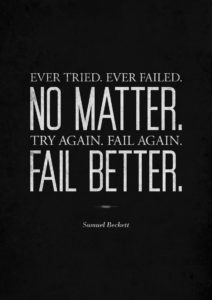 Try Again Fail Better Samuel Beckett