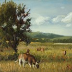 Afternoon Grazing, 2014, oil on panel, 6x8in (15x20cm)