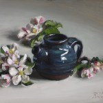 Apple Blossoms, 2015, oil on panel, 8x10in (20x25cm)