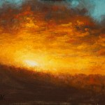 Fiery Horizon, 2013, oil on panel, 8x10in (20x25cm)