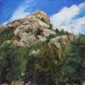 Indian Cliffs, 2014, oil on panel, 8x8in (20x20cm)