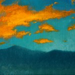 Orange Clouds, 2013, oil on linen, 8x12in (20x30cm)