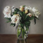 Peonies, 2015, oil on panel, 16x16in (40x40cm)