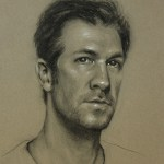 Self-Portrait, 2013, charcoal and chalk on paper, 14x11in (35.5x28cm)