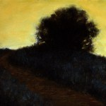 Silhouette Against Yellow Sky, 2012, oil on linen, 12x8in (30x20cm)