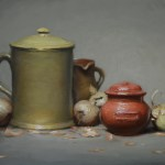 The Red Pot, 2017, oil on panel, 12x16in (30x40cm)