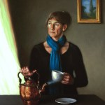 A Pause Before Tea, 2012, oil on linen, 24x30in (61x76cm)