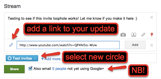 updatestream The Simple Loophole To Create Google+ Invites