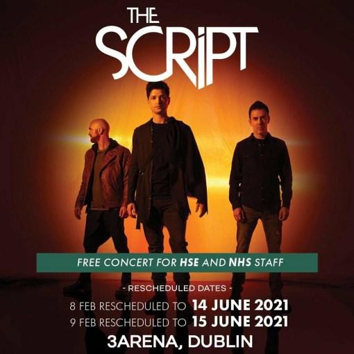 The script 3 arena concert bus