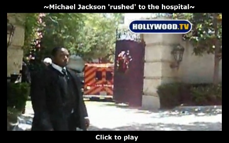 Michael Jackson rushed to the hospital
