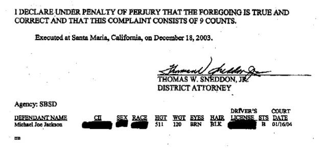 Michael Jackson indictment