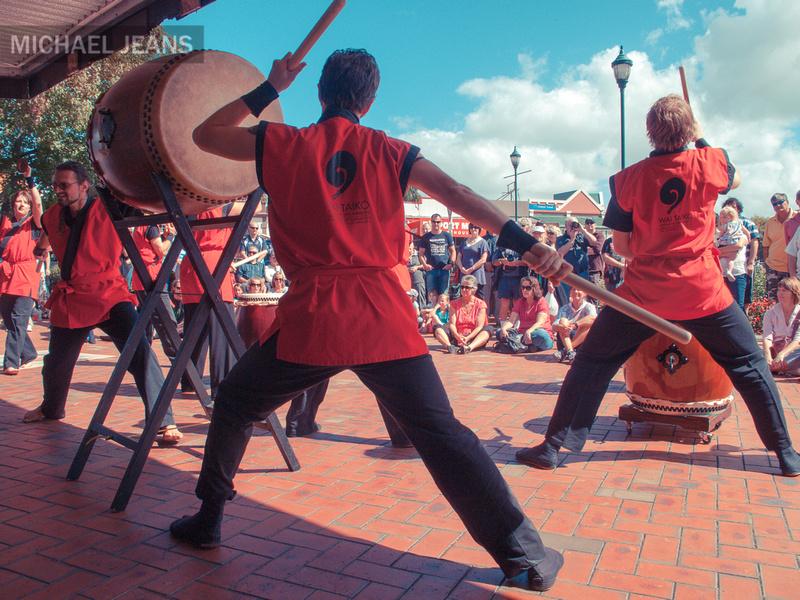 Waikato Taiko drummers