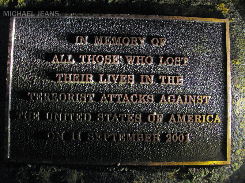 9/11 memorial plaque Cambridge New Zealand