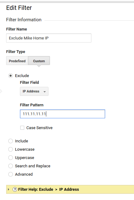 Exclude IP for Shopify Store in Google Analytics