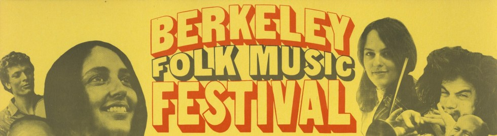Berkeley Folk Music Festival 1968 Poster Header