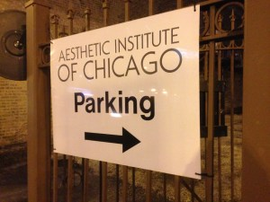 Aesthetic Institute of Chicago Parking Sign