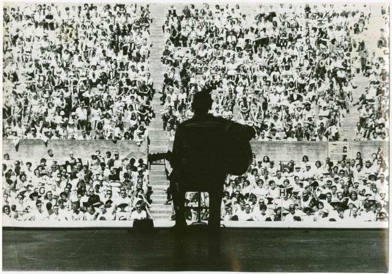 Mance Lipscomb Silouette Greek Theatre 1963
