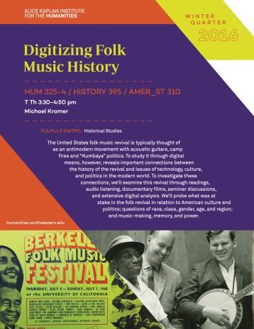 Digitizing Folk Music History_WQ16 course flyer 11_9_15