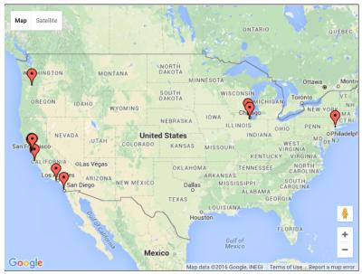 Dawson Map US