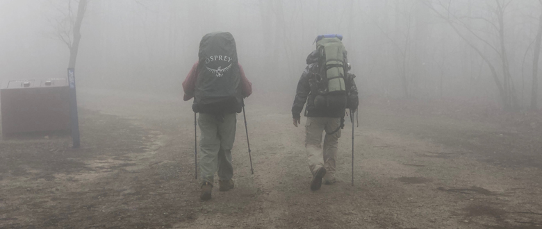 Two Guys Hiking