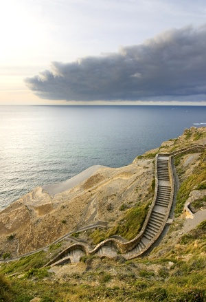 Ocean Landscape & Stairway to Succes