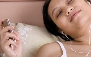 Listening to Relaxing Bedtime Music