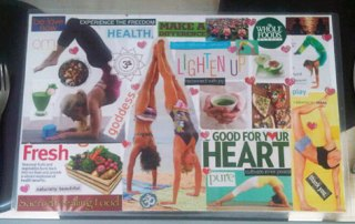 Vision board for health