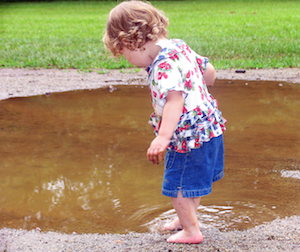 Puddle and Child