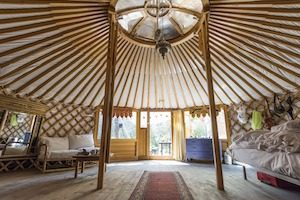 Interior of Yurt
