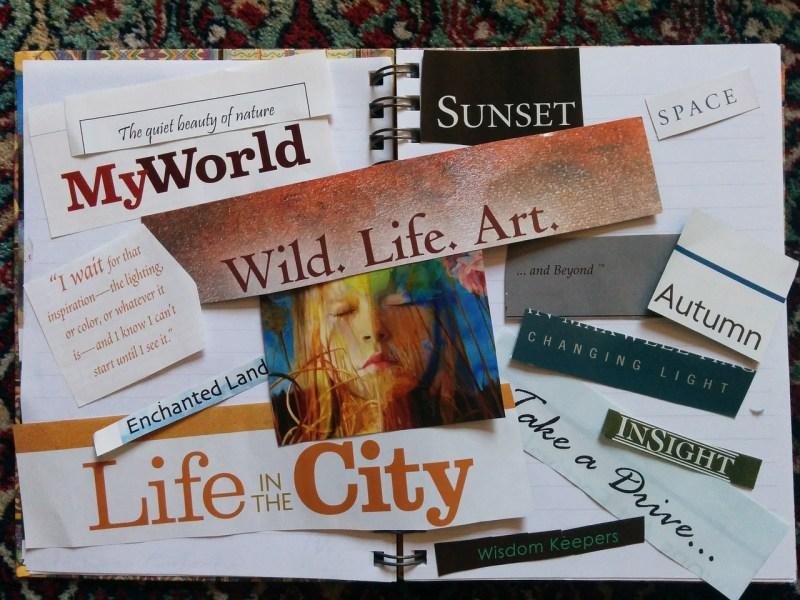 Vision Board Manifestation Scrapbook