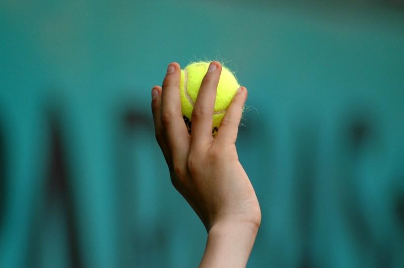 Hand Tennis Ball Child Ball Tennis